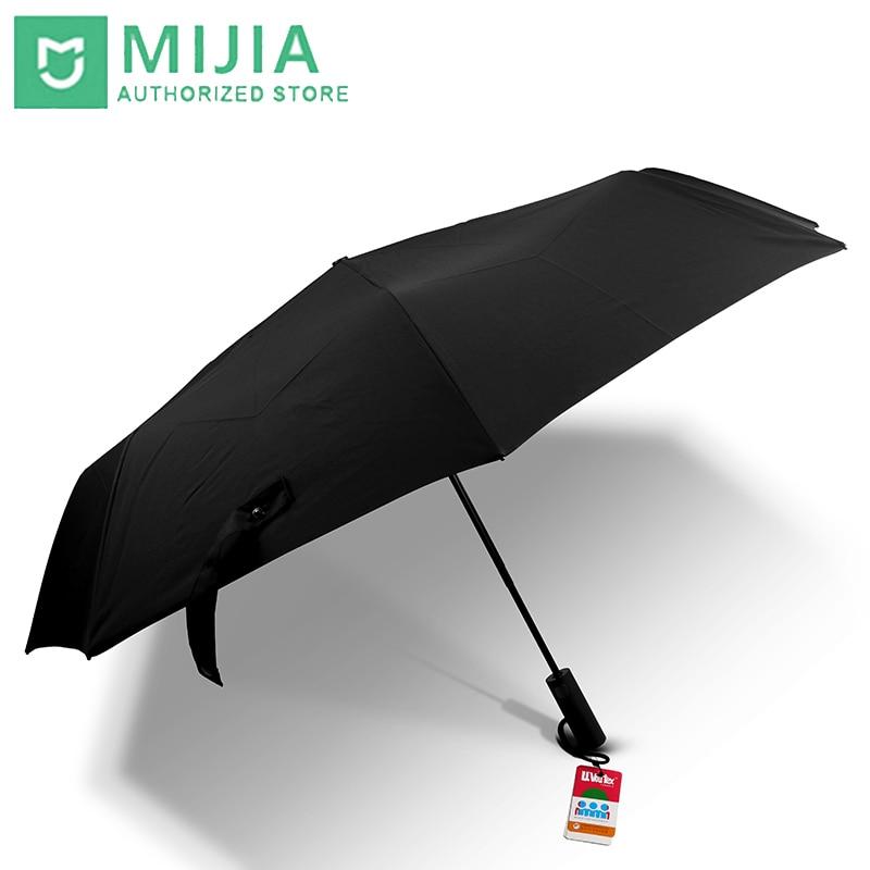 Original Neue Xiaomi Mijia regenschirm Automatische Sunny Regnerischen Aluminium Winddicht Wasserdicht UV Mann frau Sommer Winter