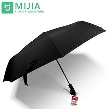 Orijinal yeni Xiaomi Mijia şemsiye otomatik güneşli yağmurlu alüminyum rüzgar geçirmez su geçirmez UV adam kadın yaz kış