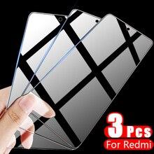 Защитное стекло с полным покрытием для Xiaomi Redmi Note 10, 7, 5, 8 Pro, 8T, 9 Pro Max, защитное закаленное стекло для экрана Redmi 9, 8, 7A, 3 шт.