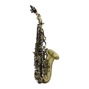 Image 2 - ヴィンテージスタイル Bb ソプラノサックスサックス真鍮素材木管楽器ケース手袋クリーニングクロスブラシサックスストラップ Mouthp