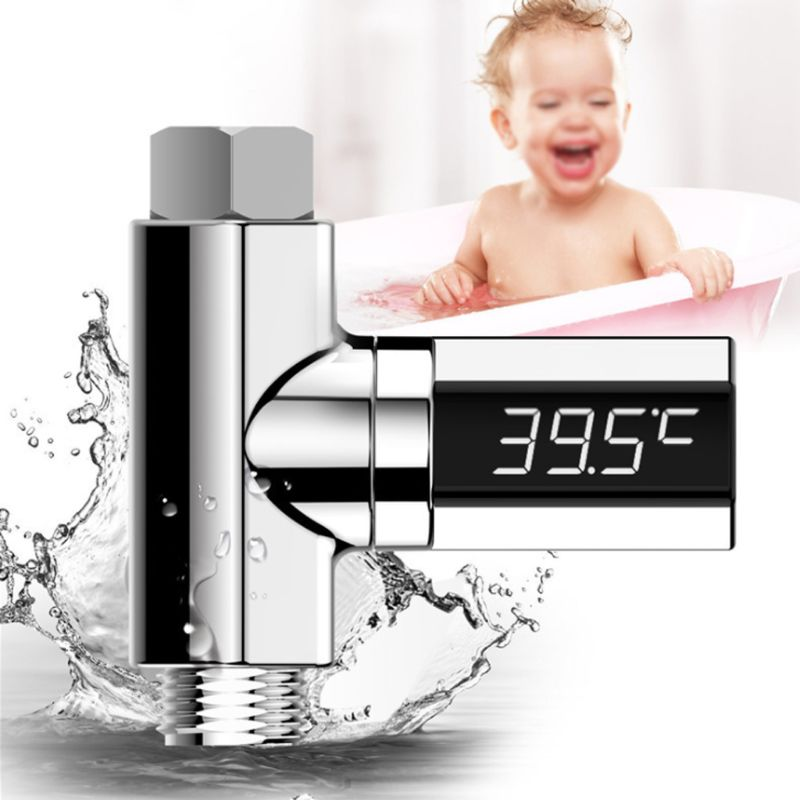 New LED Display Home Water Flow Faucet Shower Thermometer Temperature Monitor Baby 63HF