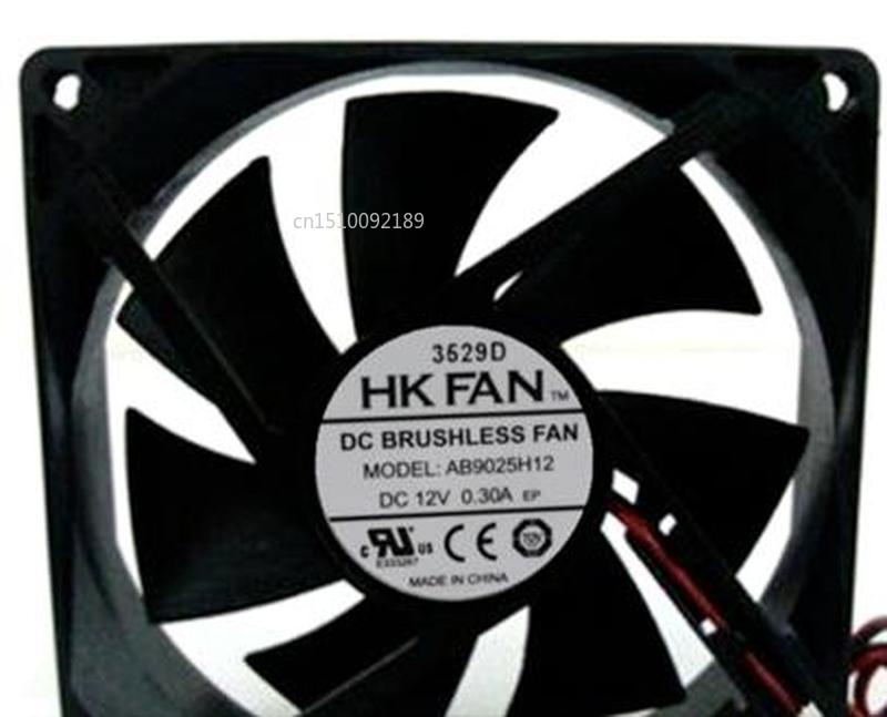 For 9025 12V 0.3A AB9025H12 9CM Cm Double Ball Cooling Fan Free Shipping