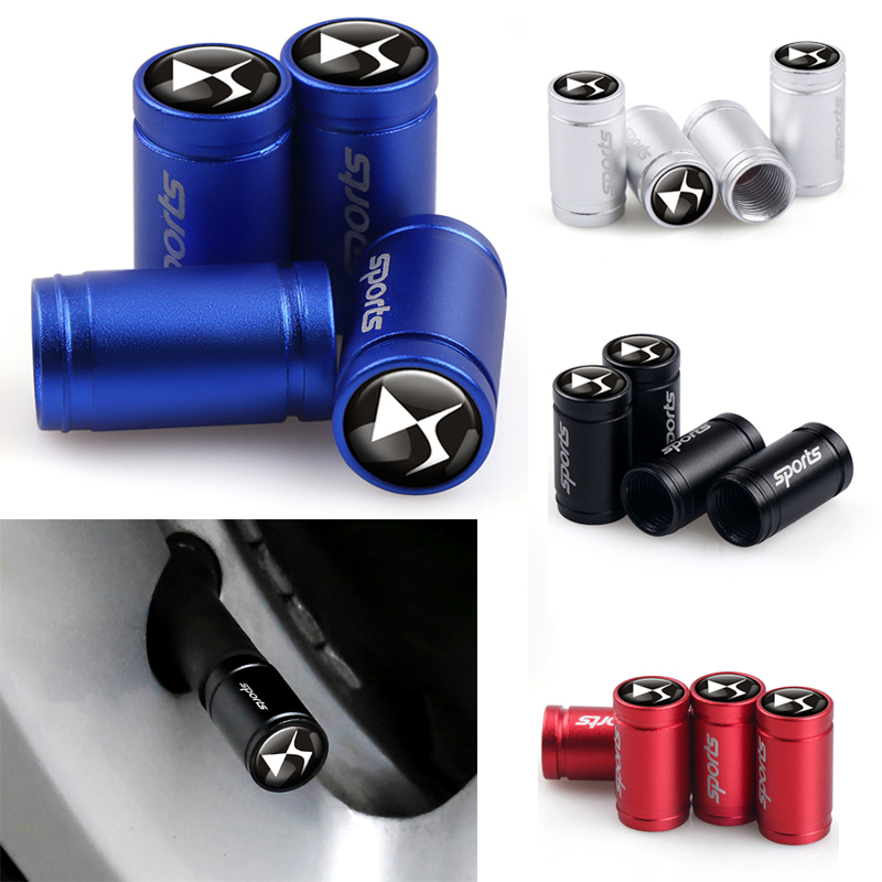 4Pcs Car Sport Wheel Stem Covers Tire Valve Caps For Citroen DS Logo C2 C3 C4 C5 C6 C4L C8 DS3 Jumper Berlingo Nemo Accessories