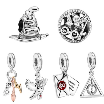 2020 New Arrival Harry Series charms Deathly Hallows Dangle Charm fit Original Pandora Charms Bracelet For Women DIY Jewelry deathly hallows wax seals s logo harry potter multi color brass stamp