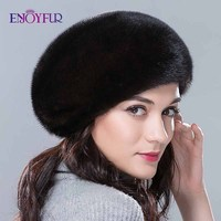 Fur hats for winter women whole real mink fur hat with diamond floral pattern luxury fashion women fur berets good quality