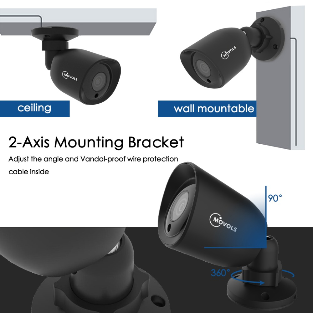 Image 3 - Movols 5MP 8CH H.264+ HD Security Camera System with 4 x 5MP HD Outdoor/ Indoor CCTV Camera Surveillance Kit-in Surveillance System from Security & Protection
