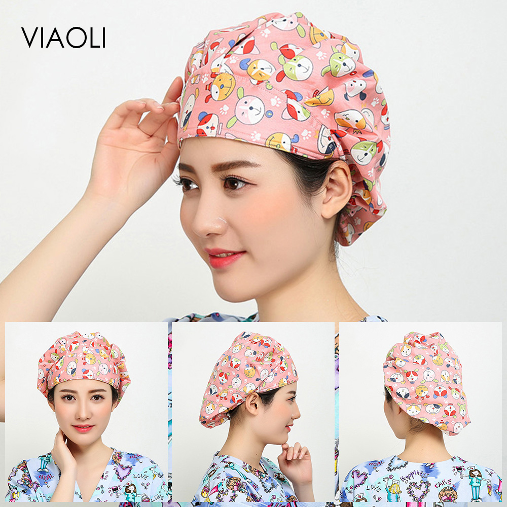Viaoli Pet Hospital Surgical Caps Unisex Pharmacist Operating Room Hats Medical Doctor Surgery Caps Nursing Medical Accessories