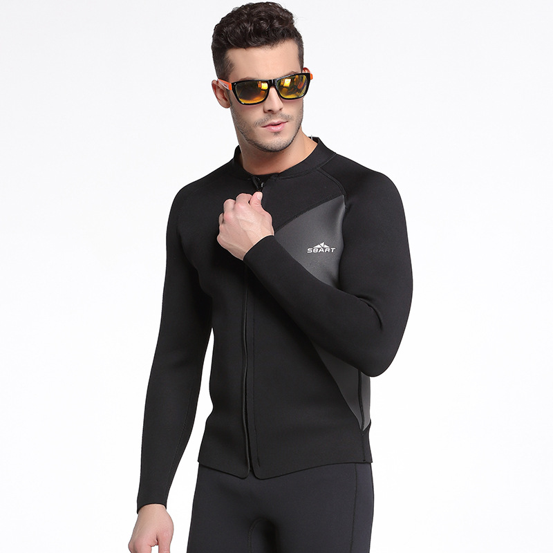 New Men 3mm Diving Neoprene wetsuit neoprene one piece diving suit Long sleeves Keep warm Elastic Swimming Surfing Wetsuit in Wetsuit from Sports Entertainment