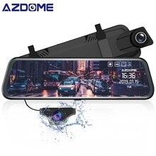 AZDOME PG02 flux médias ADAS voiture DVR 1080P Vision nocturne GPS caméra double lentille 1080p caméra de recul grand Angle 24H Mode de stationnement