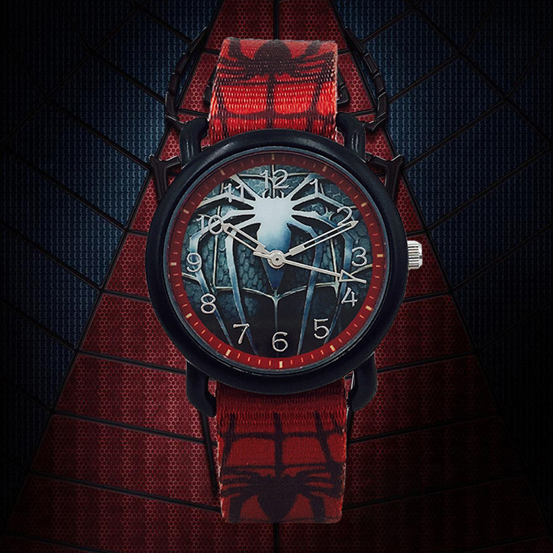 Cartoon Spiderman Kids Watches Boys Canvas Strap Waterproof Quartz Wristwatch Fashion Cool Children Watch Boy Montre Enfant Saat