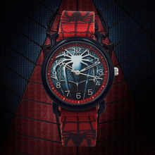 Cartoon Spiderman Kids Watches Boys Canvas Strap Waterproof