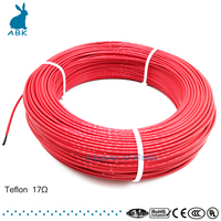 F24K 100meters 17ohm Teflon PTFE Carbon fiber heating wire Heating cable High quality and low cost Infrared heating wire system