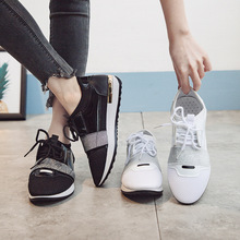 Mesh Women Shoes Flats Casual Lace-up Fashion Sneakers Pointed Low-cut Espadrilles Loafers Platform Shoes Woman Plus Size 36-41 hee grand 2017 canvas shoes woman platform loafers embroider creepers spring lace up flats casual flowers women shoes xwf533