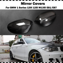 Carbon Fiber Mirror cover For BMW 1 Series Hatchback 120i 130i 135i 2004-2008 year E81 E87 Car CF rear mirror cap stick-on carbon fiber wing mirror cover for bmw e82 e87 2007 2008 add on style