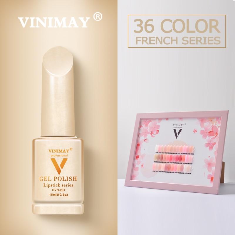 VINIMAY France Gel Nail Polish vernis semi permanant UV Soak Off Gelpolish Nail Art Gel Polish Primer Manicure Nails Gel Lacque-in Nail Gel from Beauty & Health