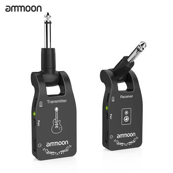 Ammoon 2 4G bezprzewodowy nadajnik gitarowy Audio 6 kanałów gitara bezprzewodowy nadajnik-odbiornik elektryczna gitara basowa tanie i dobre opinie CN (pochodzenie) Wireless Guitar Transmitter NONE Efekty less than 12ms more than 100 feet outdoors less than 105dB USB port