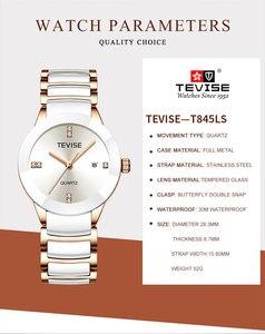 Image 3 - Luxury Women Watches TEVISE Top Fashion Brand Stainless Steel Waterproof Watch Woman Dress Quartz Wrist Watches Relogio Feminino