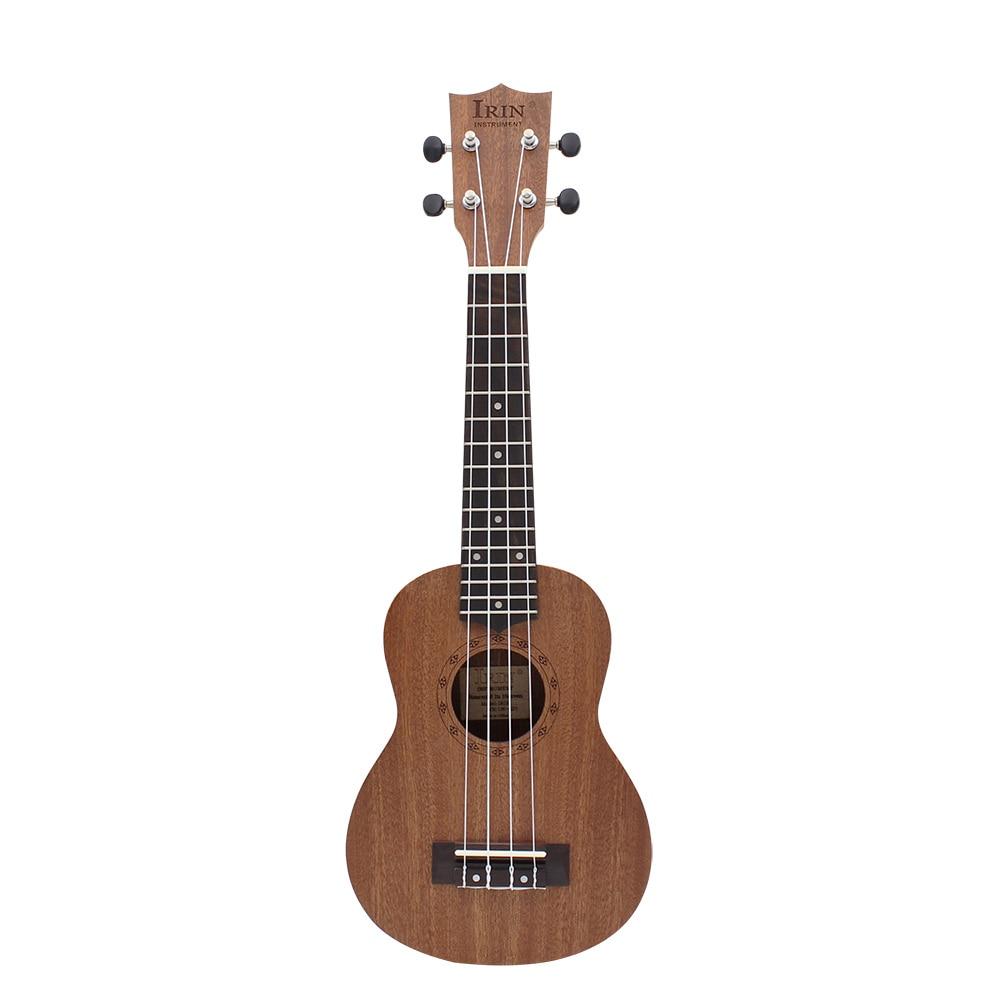 IRIN 21 Inch 15 Frets Mahogany Soprano Ukulele 4 Strings Hawaiian Guitar Ukelele Gift For Beginner Student