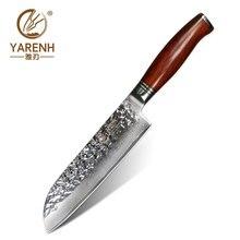 YARENH 7 inch Santoku chef knife Japanese VG10 Fillet Knive Damascus Steel vegetable best sharp Professnal Kitchen Knife