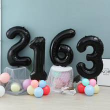 40 32 inch black digital Foil Birthday Balloons Air Helium Number Balloon Figures Happy Birthday Party Decorations Kid toy Baloo