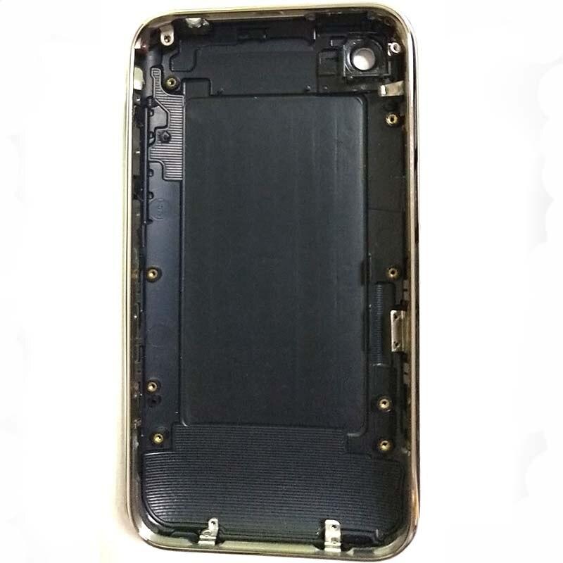 Para o iphone 3g 3gs habitação com quadro 8 gb 16 gb 32 gb bateria porta habitação capa traseira caso do telefone móvel branco ou preto