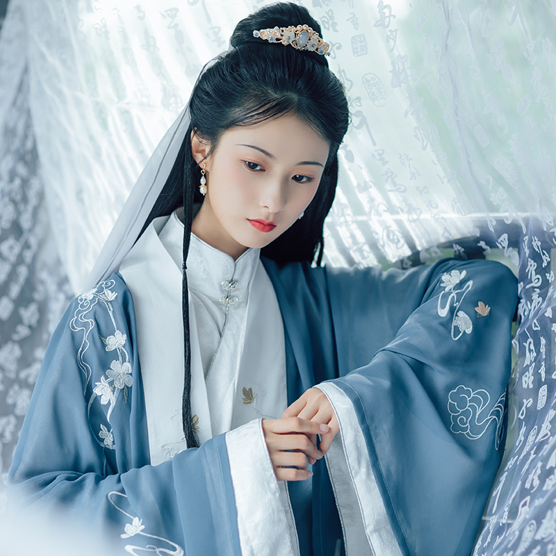 Women Classical Dance Costume Oriental Hanfu Embroidery Fairy Dress Festival Outfit Rave Performance Clothes Ancient Wear DF1083