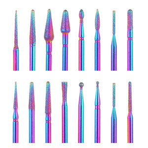 5PCS/10PCS Nail Drill Bits Set Electric Nail Files Colorful Milling Cutter Manicuring Gel Polish Remover Nail Tools Accessories