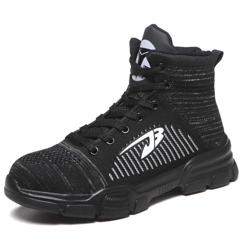 Winter Nieuwe mannen Anti Smashing Katoen Stalen Neus Werkschoenen Hoge Top Laarzen Met Bont Mannen Punctie Proof Veiligheid schoenen