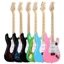 Guitarra Eléctrica multifuncional para principiantes, instrumento Musical profesional para adultos