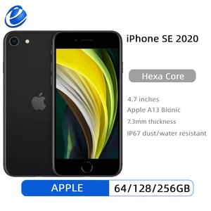 Разблокированные смартфоны Apple iPhone SE 2020 4,7 дюйма A13 Оригинальный iPhone SE 3G. RAM. Сотовые телефоны с шестиядерным процессором 64/128/256 ГБ ROM 1821 мАч