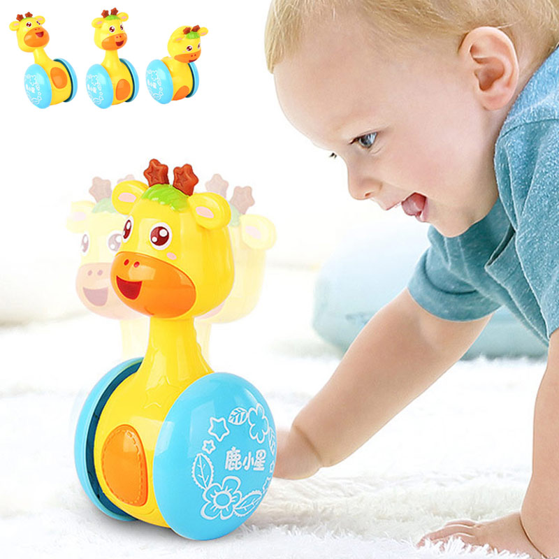 Baby Rattles Tumbler Doll Toys Bell Music Learning Education Toys Gifts For 0-12 Months 2019 New Design Kids Toys Dropship