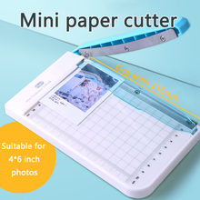 Paper Cutter Paper Trimmer 4x6 Inch Portable Photo Paper Guillotine Built-In Ruler Office Stationery Cutting Portable Machine