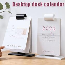 2020 kalendarz biurkowy roczny kalendarz Flip codzienne planiści z wiszącym mocowaniem YA88|Zewnętrzne narzędzia|Sport i rozrywka -