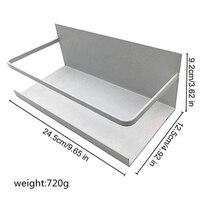 Magnetic Absorption Storage Rack Refrigerator Magnetic Organizer Rack Magnetic Storage Rack Spice Rack Great For Kitchen Black w Półki i stojaki od Dom i ogród na