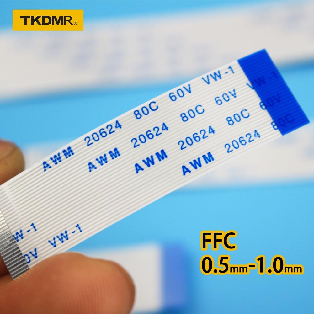 Плоский гибкий кабель TKDRM FFC FPC, ЖК-кабель AWM 20624 80C, 60 в, аналогичный, 1 мм, 4-контактный разъем, синий 50-300 мм, соединитель для проводов