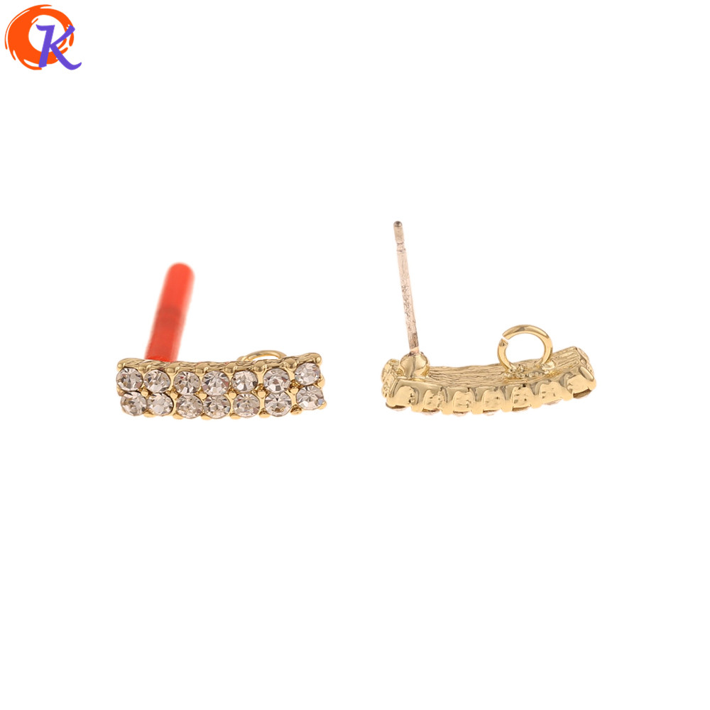 Cordial Design 50Pcs 4*15MM Jewelry Accessories/Earrings Stud/Hand Made/Rhinestone Earring Findings/DIY Parts/Jewelry Making