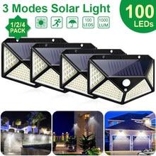 Goodland-Luz LED Solar 100 para exteriores, lámpara Solar alimentada por luz Solar, Sensor de movimiento PIR de 3 modos para decoración de jardín, pared y calle