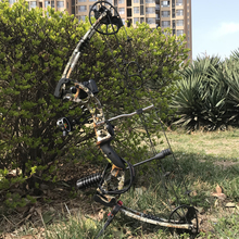 Camo Compound Bow Archery Compound Bow 30-70lbs Set Stabilizer Kit Arrow Rest Take down Right hand