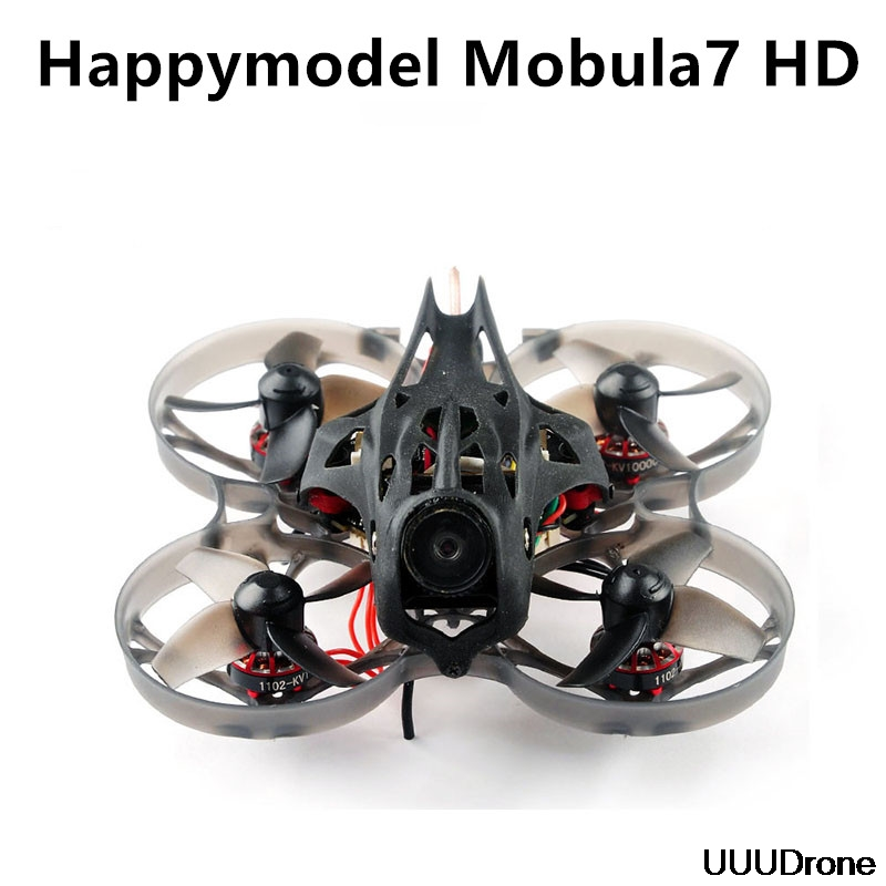 2019 New Happymodel Mobula7 HD 2-3S 75mm Crazybee F4 Pro Whoop FPV Racing Drone PNP BNF W/ CADDX Turtle V2 HD Camera
