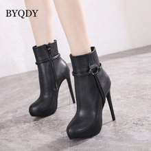 Женские готические ботинки byqdy короткие на высоком тонком