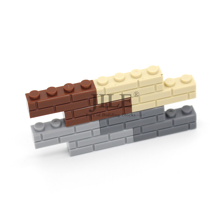 Moc Brick Modified 1x4 with Masonry Profile Street View Military Wall 15533 DIY Building Blocks Compatible Assembles Particles