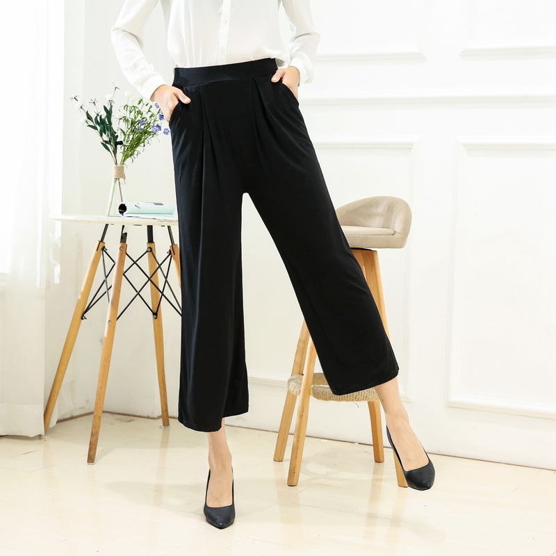 Manufacturers Direct Selling Women's Summer New Style Bamboo Fabric Loose   Pants   Loose-Fit Summer   Capri     Pants   Fashion Casual   Pant