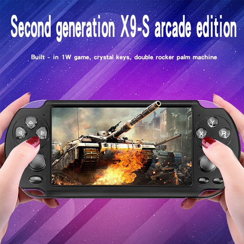 5.1 Inch 8GB Handheld Portable Retro X9S Game Console Player Built-In 10000 Games
