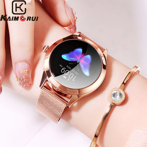 Image 1 - 2020 Smart Watch Women Heart Rate Monitor Ip68 Swimming Fitness Bracelet Female Smartwatch For Iphone Ios Android KW10 Band