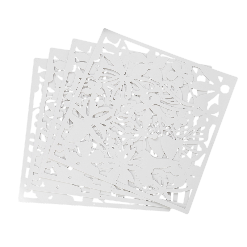 4 Pieces Screen for Living Room Hanging Screen Curtain of Room in Polyethylene Partition of Room White 40 x 40cm