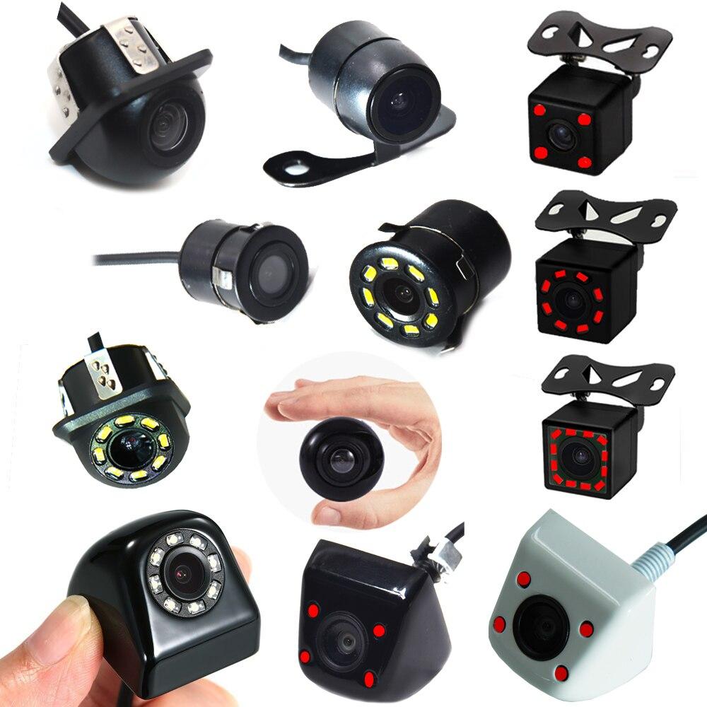 BYNCG 8 LED IR gece vizyonları araba dikiz kamera geniş açı HD renkli görüntü su geçirmez evrensel yedekleme ters park kamerası