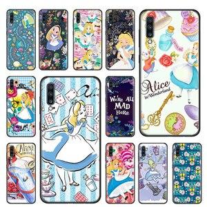 Alice In Wonderland Prinses Cartoon Soft Case Voor Samsung Galaxy A51 A71 5G A80 A70 A70s A50 A50s A40 a30 A20 A10 Tpu Cover