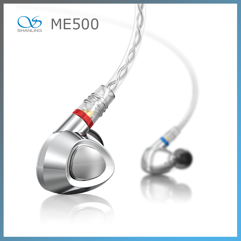 Shanling ME500 Platinum Edition Hybrid technology In-ear Earphone With MMCX Detachable Cable