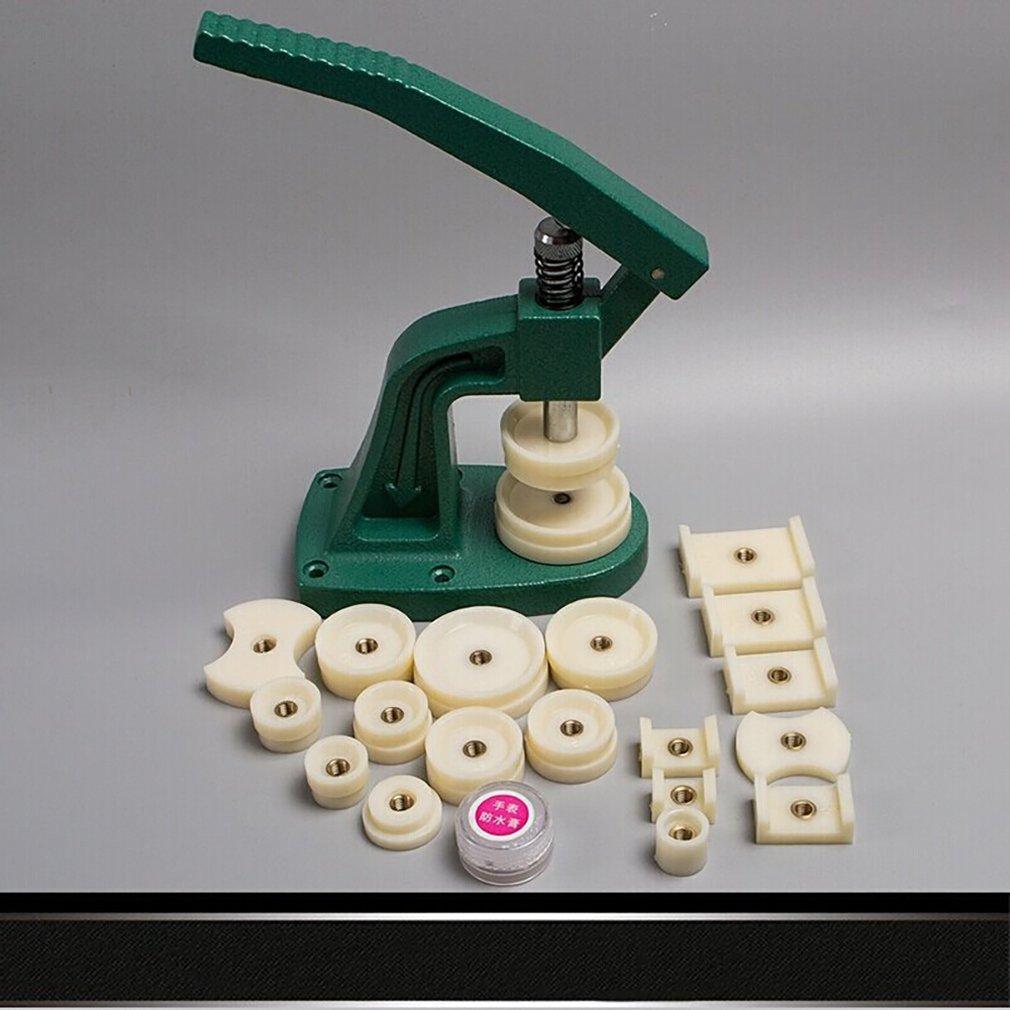 Herramienta de reparación de relojes de escritorio reloj Gland reloj prensa cubierta máquina cambiar batería tapadora máquina con molde