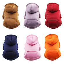 PUOUPUOU Solid Hoodie Dog Clothes Winter Warm Pet Clothes For Dogs Coat Jacket Cotton Clothing For Dogs New Cute Pets Clothing(China)